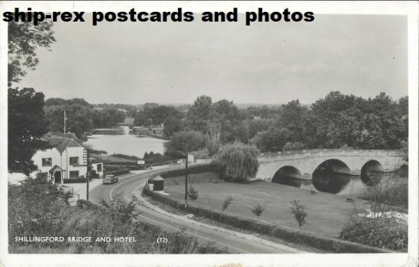 Shillingford (Oxford) bridge & hotel, postcard